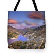 Lenticular Clouds At The Red Sunset Tote Bag