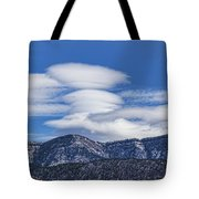 Lenticular Clouds Forming 493 Tote Bag