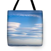Lenticular Clouds Forming In The Troposphere Tote Bag
