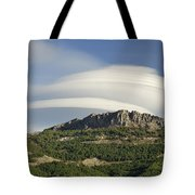 Lenticular Clouds Over Dornajo Mountain Tote Bag
