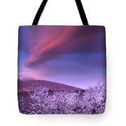 Lenticular Clouds Over Sierra Nevada Tote Bag