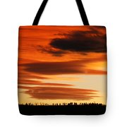 Lenticular Sunset 1 Tote Bag
