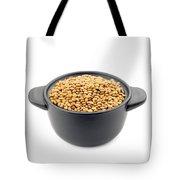Lentils In A Black Cup Tote Bag