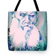 Leo Tolstoy Watercolor Portrait.2 Tote Bag