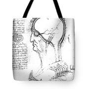 Leonardo: Brain, C1490 Tote Bag