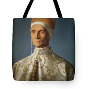 Leonardo Loredan 1436-1521 Doge Of Venice From 1501-21, C.1501 Oil On Panel Tote Bag