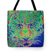 Leopard Eyes Green Tote Bag