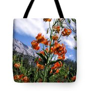 Leopard Lilies Below Lassen Peak Tote Bag