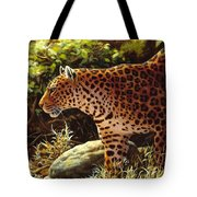 Leopard Painting - On The Prowl Tote Bag
