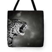 Leopard Portrait Tote Bag