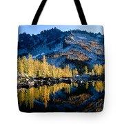 Leprechaun Lake Larch Trees Tote Bag