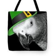 Leprechaun Parrot Tote Bag