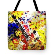 Les Paul Retro Abstract Tote Bag
