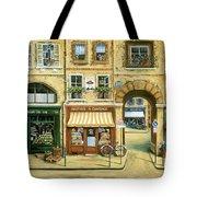 Les Rues De Paris Tote Bag by Marilyn Dunlap