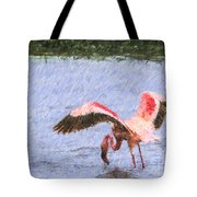 Lesser Flamingo Filter Feeding Lake Nakuru Kenya Tote Bag