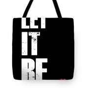Let It Be Poster Tote Bag