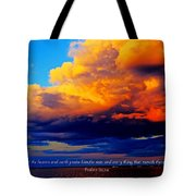 Let The Heavens Tote Bag