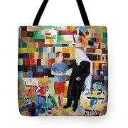 Let Us Make Man  Tote Bag