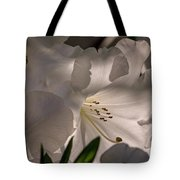 Shining Through The Darkness - Flower Art Tote Bag