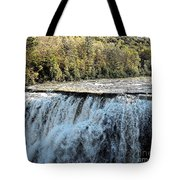 Letchworth State Park Middle Falls In Autumn Tote Bag
