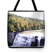 Letchworth State Park Middle Falls Panorama Tote Bag