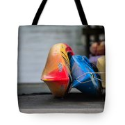 Lets Go Kayaking Tote Bag