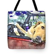 Let's Go Shopping Tote Bag