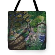 Let's Meet At The Old Apple Tree Tote Bag