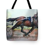 Racehorse Painting In Watercolor Let's Roll Tote Bag