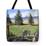 Let's Sit And Talk Awhile By Yellowstone Tote Bag