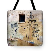Let's Talk About Nature Tote Bag