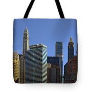 Let's Talk Chicago Tote Bag by Christine Till