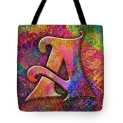 Letter A Tote Bag