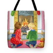 Letter To Father Christmas Tote Bag by Lavinia Hamer