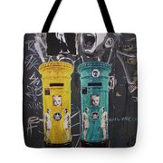 Letterboxes Da Vinci And Laughter Tote Bag
