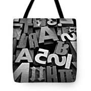 Letters And Numbers 1 Tote Bag