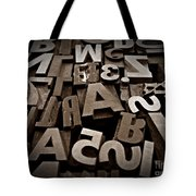 Letters And Numbers Sepia 2 Tote Bag