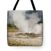 Letting Off Steam - Yellowstone Tote Bag