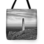 Levant To Pendeen View Black And White Tote Bag
