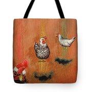 Levitating Chickens Tote Bag