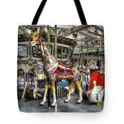 Levitating Giraffe Tote Bag