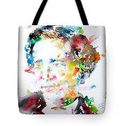 Lewis Carroll - Watercolor Portrait Tote Bag