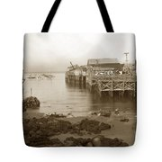 Lewis Fish Market Selected Fresh Fish And Swains Fish Market Monterey 1929 Tote Bag