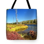 Lewis River Fall Tote Bag