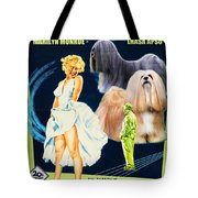 Lhasa Apso Art - The Seven Year Itch Movie Poster Tote Bag