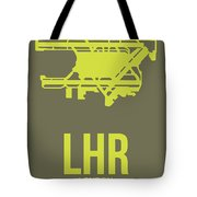 Lhr London Airport Poster 3 Tote Bag by Naxart Studio