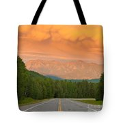 Liard River Valley Alaska Highway Bc Canada Sunset Tote Bag