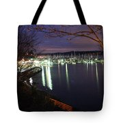 Liberty Bay At Night Tote Bag