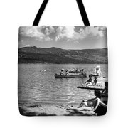 Liberty Lake Summer Leisure In 1940 Tote Bag