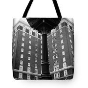 Liberty Mutual Clock With Poinset Hotel Tote Bag